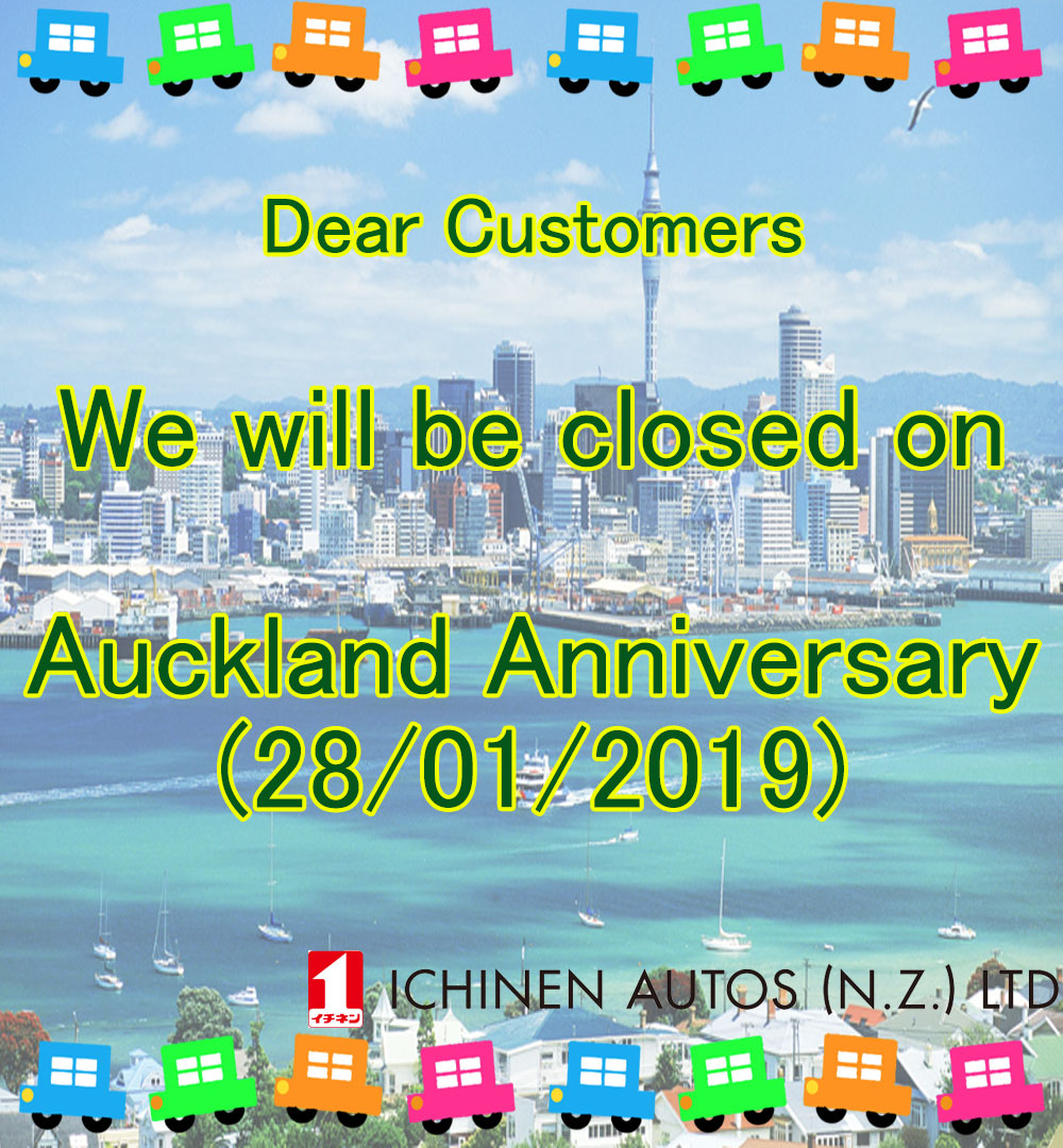 We are closed Auckland Anniversary